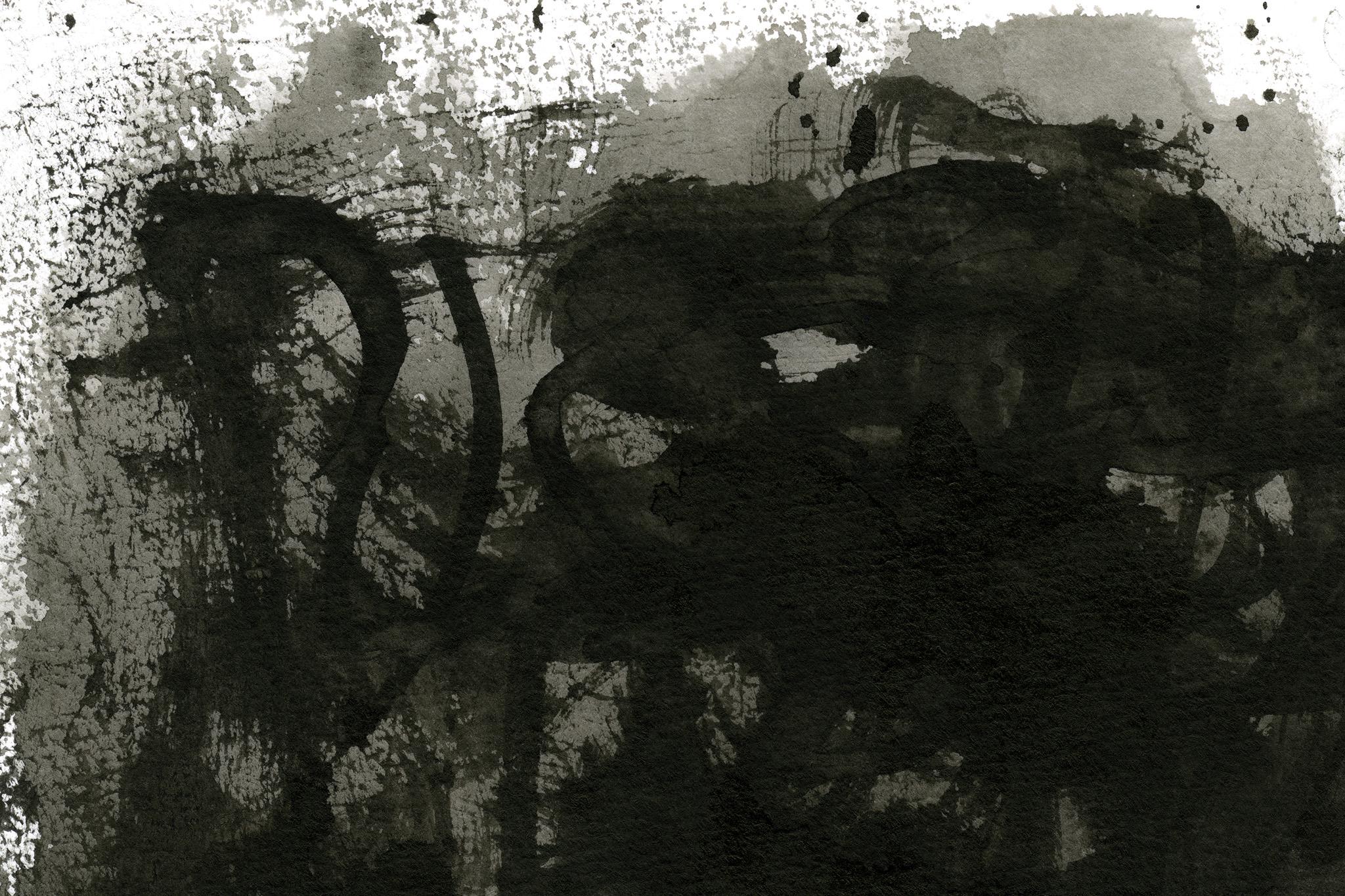 「濃淡のある掠れた墨のテクスチャ」