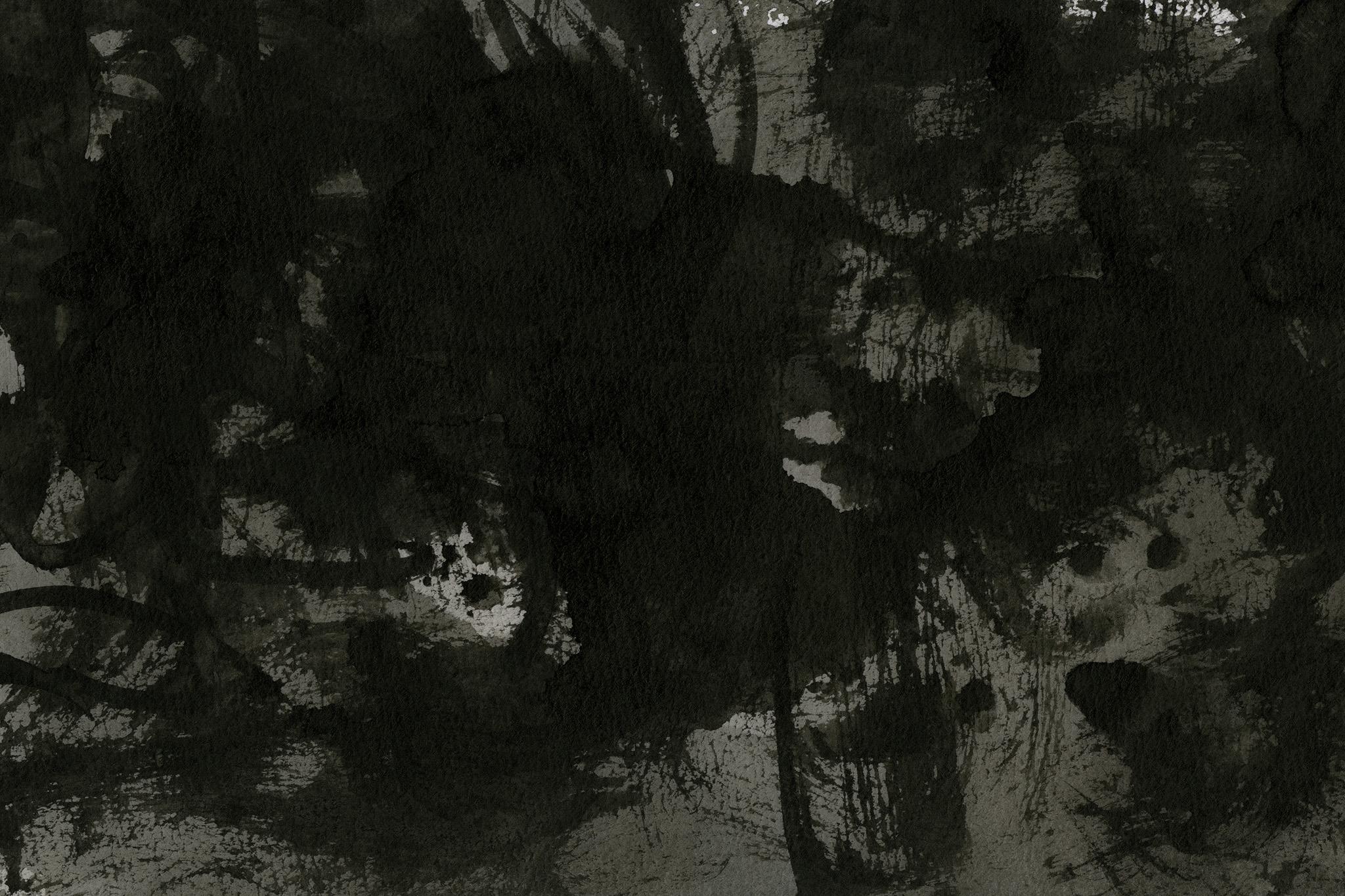 「黒い墨液がかすれる和の背景」