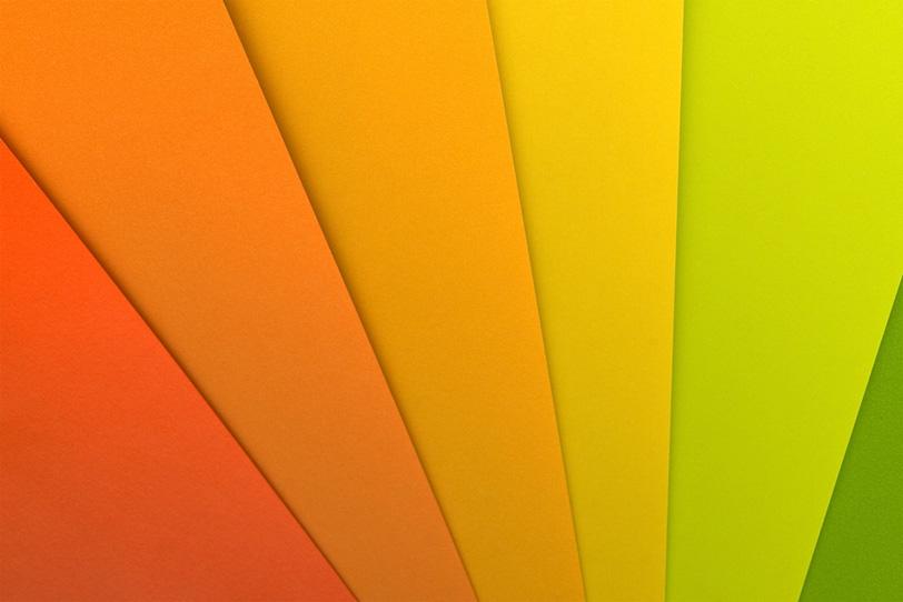 オレンジ 黄色 緑の写真画像