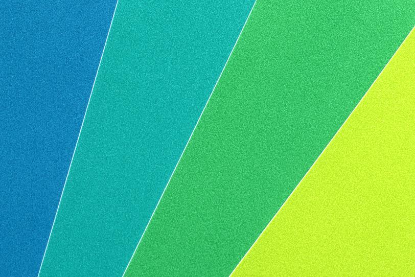 青緑黃の色合いの写真画像
