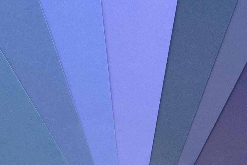 寒色系のパステルカラーの写真画像
