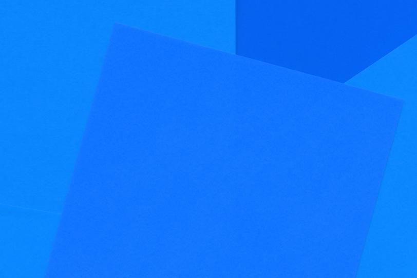 青のシンプルなフリー画像