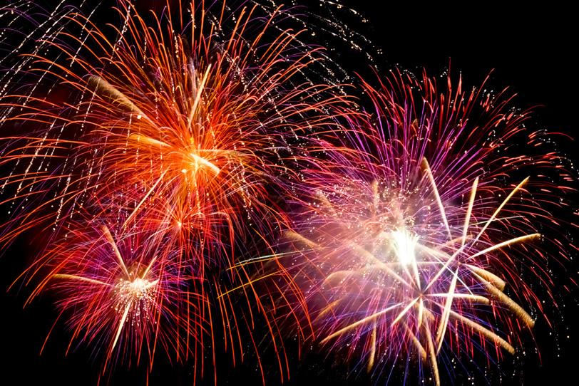 カラフルで美しい花火の写真画像