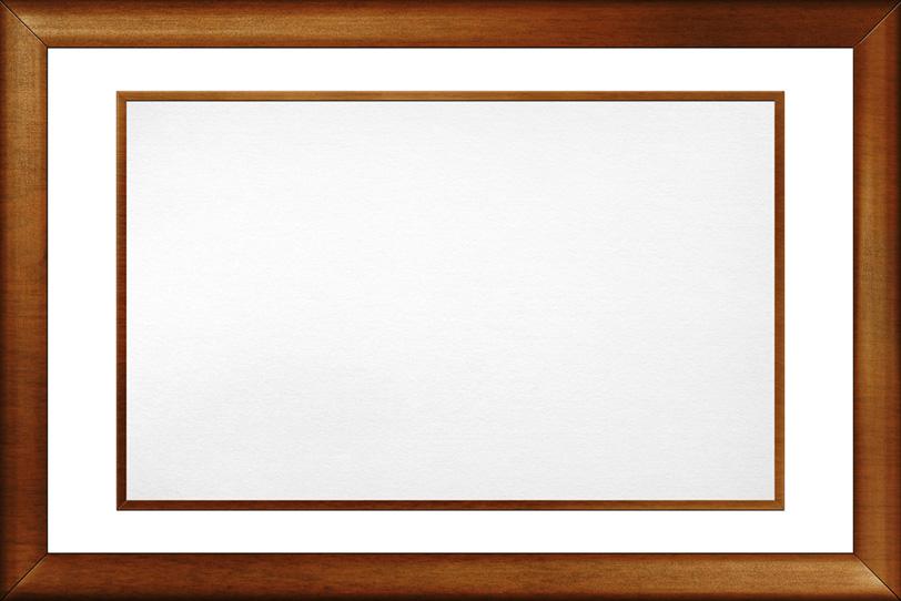 艶のある木素材の額縁の写真画像