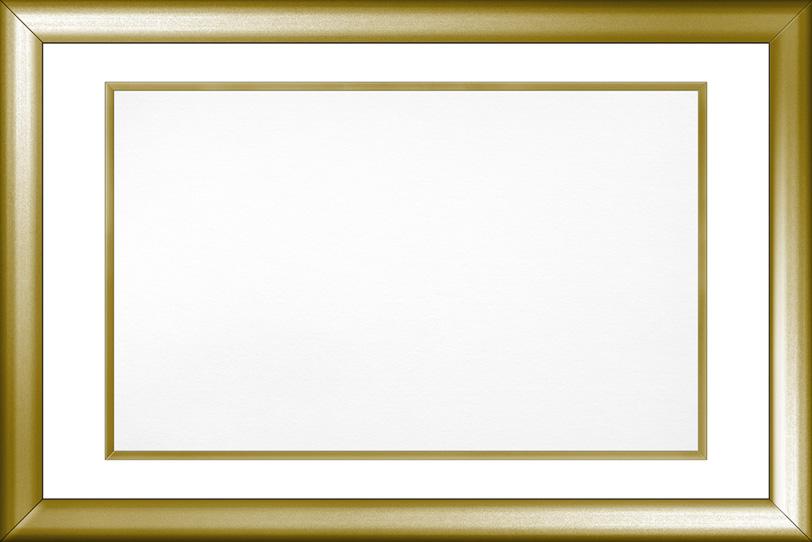 ゴールドのフレーム素材の写真画像