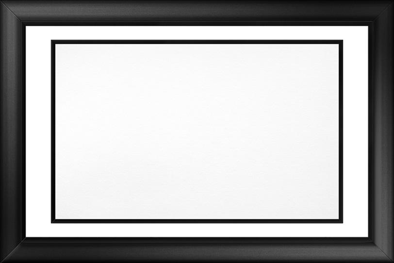 ブラックのフレーム素材の写真画像