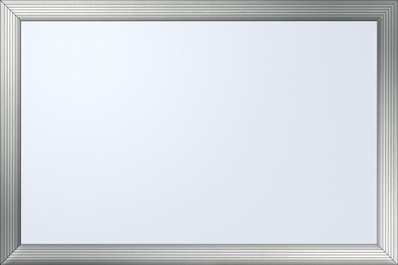 シルバー枠のホワイトボードの写真画像