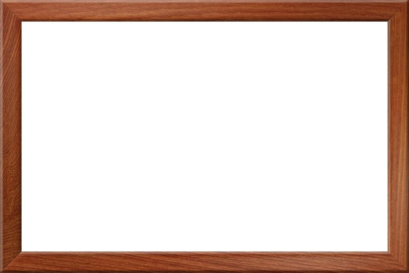 落ち着いた雰囲気の木製額の写真画像