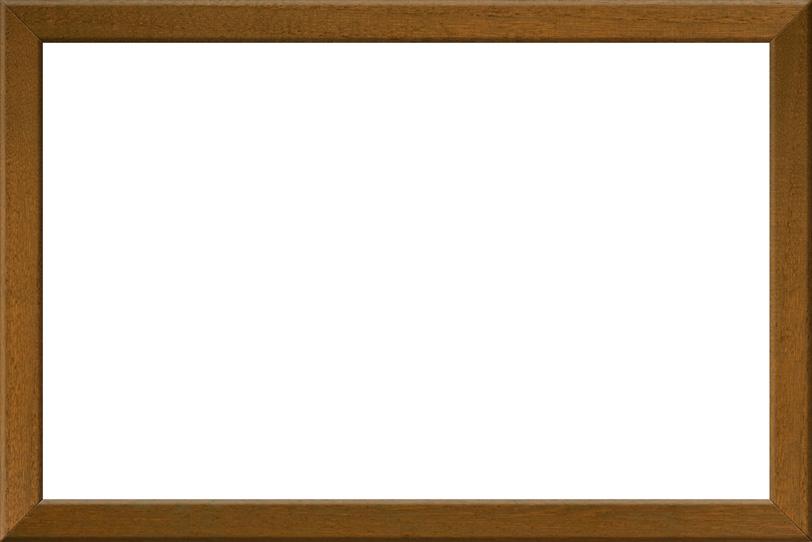 茶色の木製素材の額縁の写真画像
