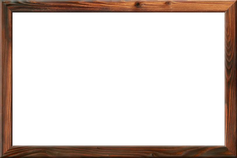 木目と節が調和した美しい額縁の写真画像