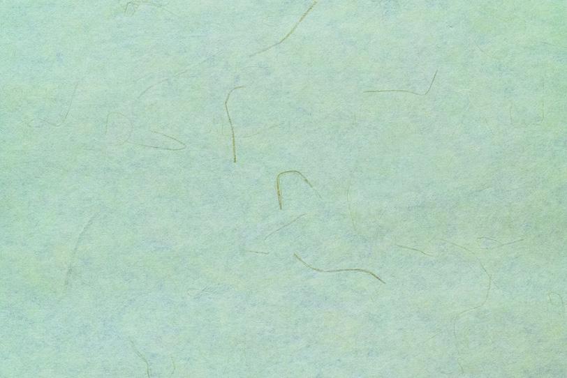 筋の入った山葵色の和紙の写真画像