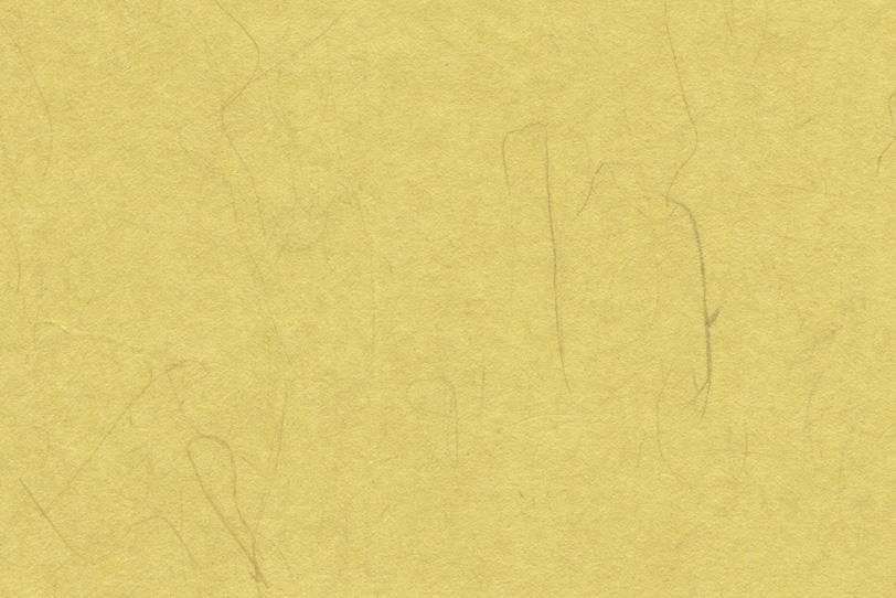 楮のテクスチャがある淡黄色の和紙の写真画像