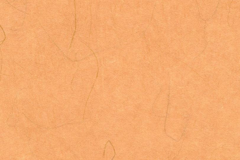 温かみのある照柿色の和紙の写真画像
