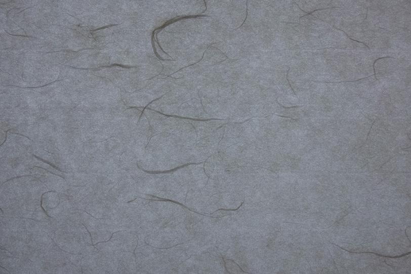 繊維と斑のある錫色の和紙の写真画像