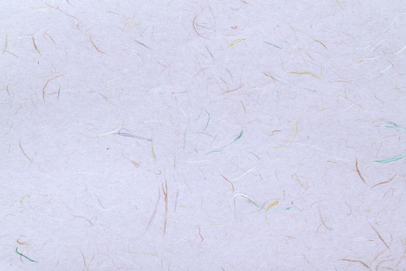 淡藤色の地紙に色付き楮の和紙の写真画像