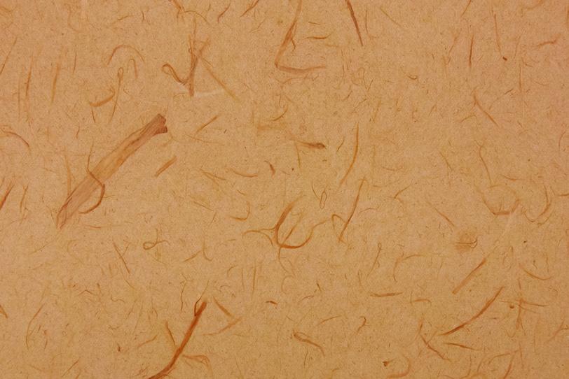黄みの深い赤褐色の和紙の写真画像