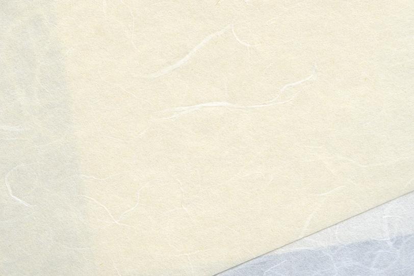 背景が透けて見える白い和紙の写真画像