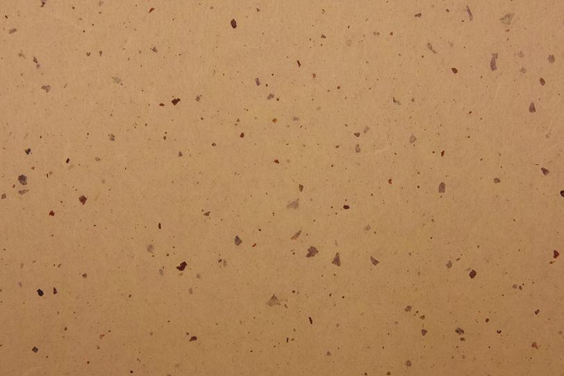 枇杷茶色の紙に楮を鏤めた和紙の写真画像