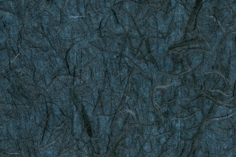 藍色の粗粗しい楮筋の雲龍和紙の写真画像