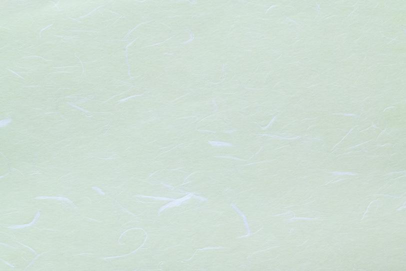薄緑色に白い楮の筋が入った和紙の写真画像