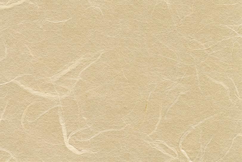 白橡色に染めた素朴な感じの和紙の写真画像