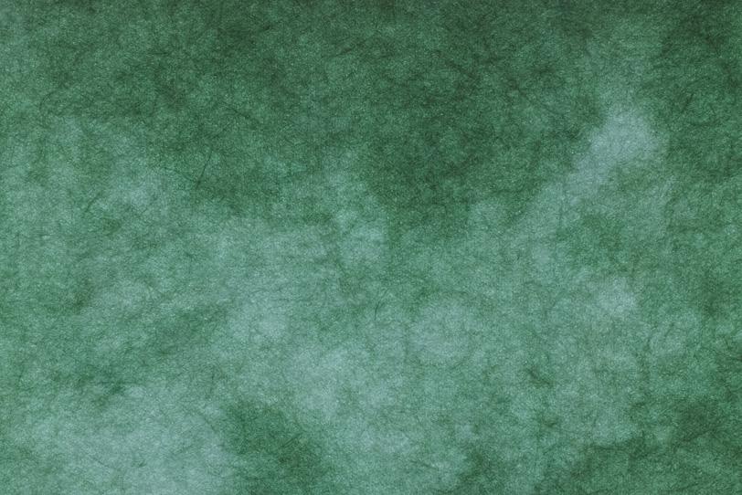 木の葉のような緑の絞染和紙の写真画像