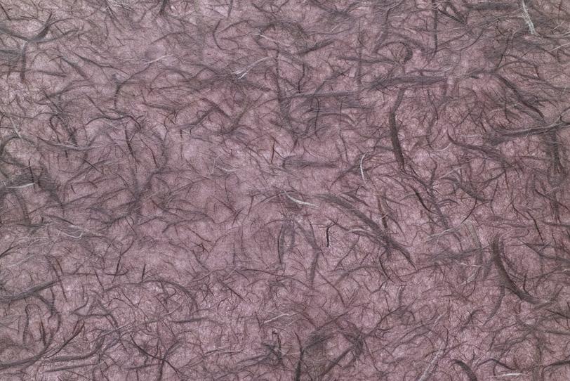 楮筋を潤沢に入れた石竹色和紙の写真画像