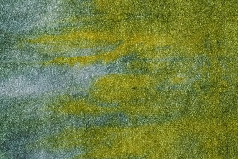 黄色と薄墨色が交わる暈染和紙の写真画像
