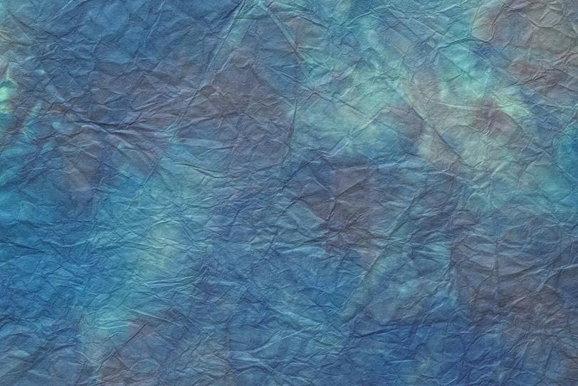 紺瑠璃色と茶色の揉絞染和紙の写真画像