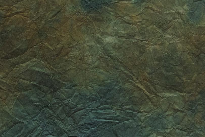 褐返色と苔色の揉染和紙の写真画像