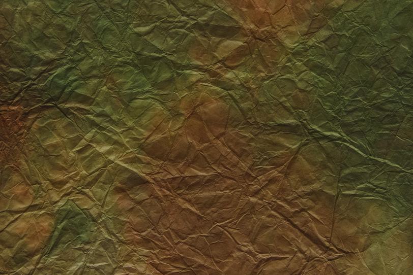 海松色と茶色の揉染和紙の写真画像
