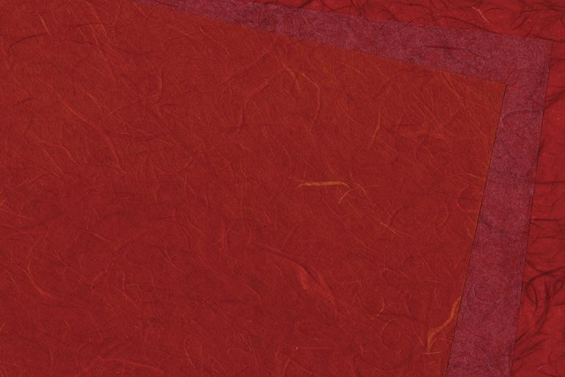 鮮やかな深紅の雲竜和紙の写真画像