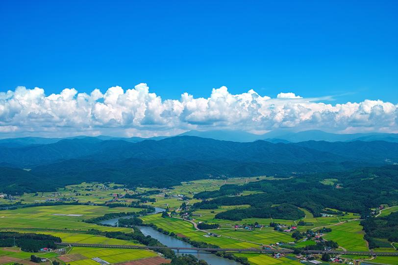 夏の東北の田舎の写真の写真画像