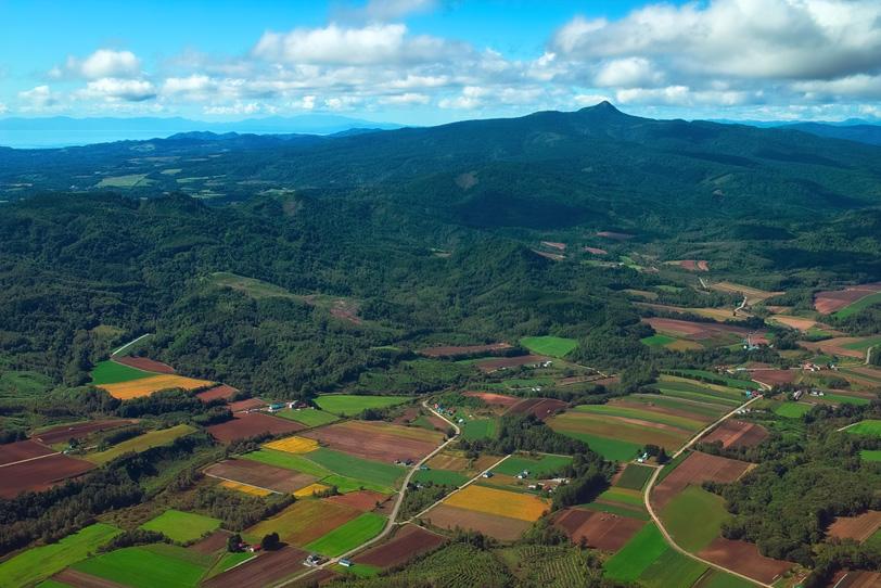 日本の田舎風景の写真画像