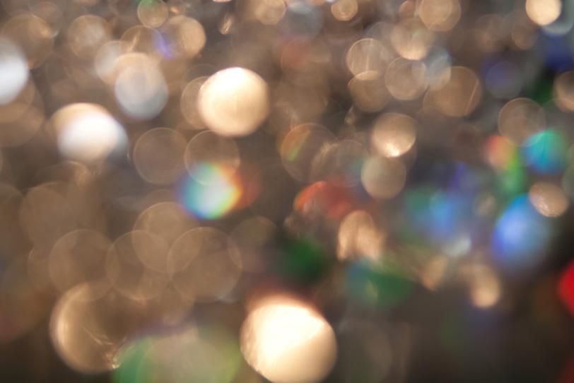 煌めく無数の光の写真画像