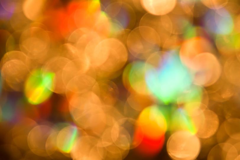 七色のイルミネーションの写真画像