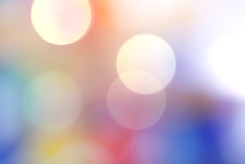 カラフルな光のボケの写真画像