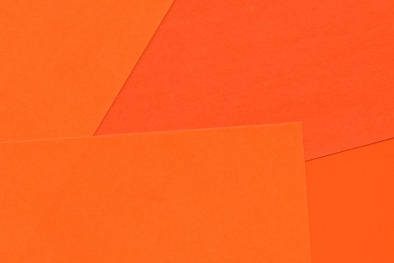 オレンジのシンプルなフリー画像
