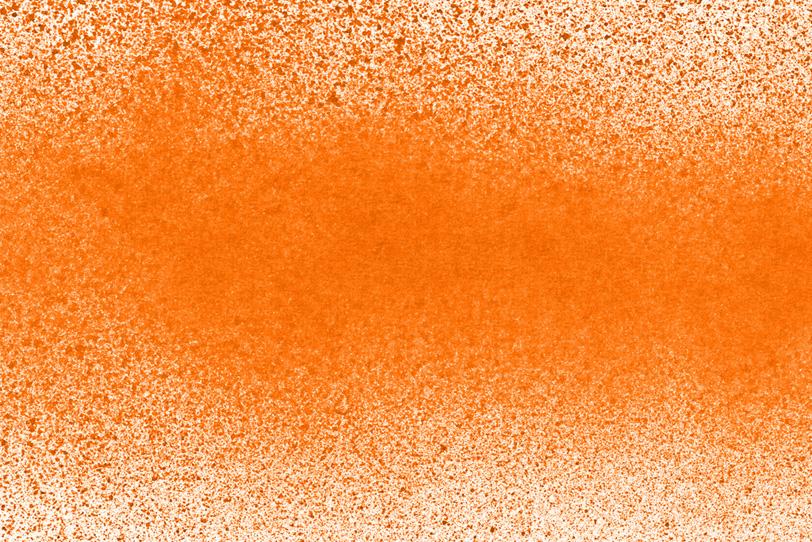 オレンジの背景でクールな写真