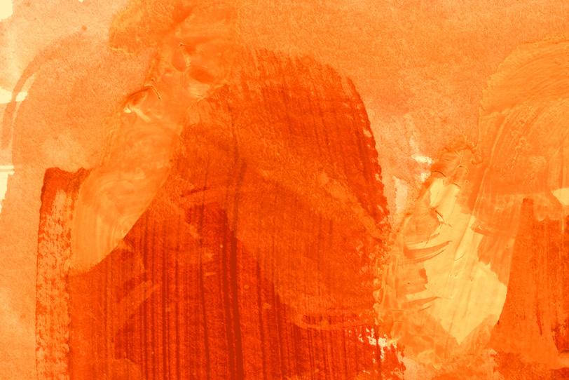 背景がオレンジのクールな画像