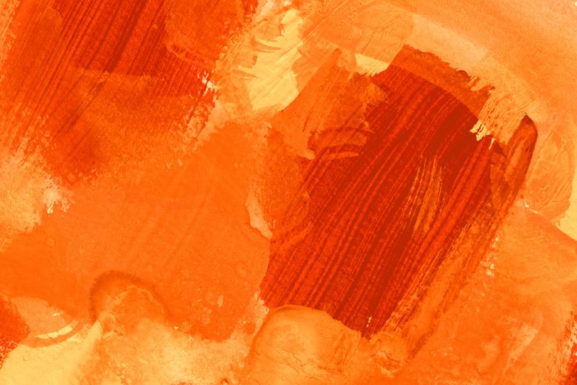 背景がオレンジの可愛い写真