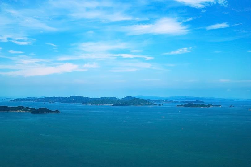 瀬戸内の夏の海の写真画像