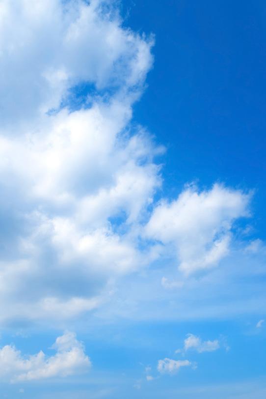 青空と巨きな積雲の写真画像