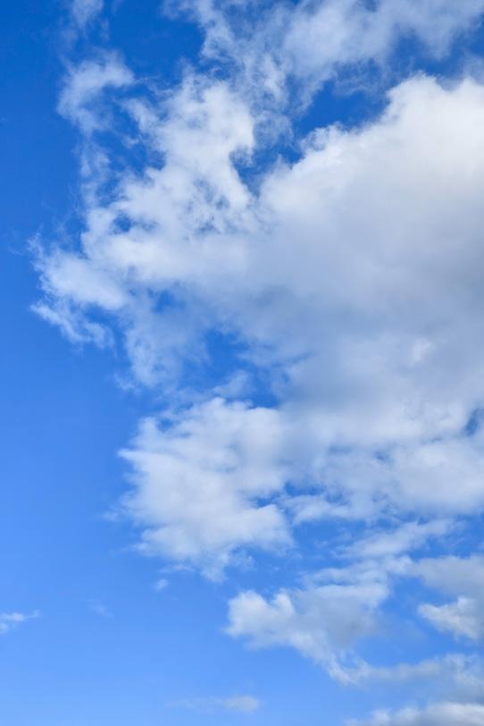 青空に千切れながら広がる雲の写真画像