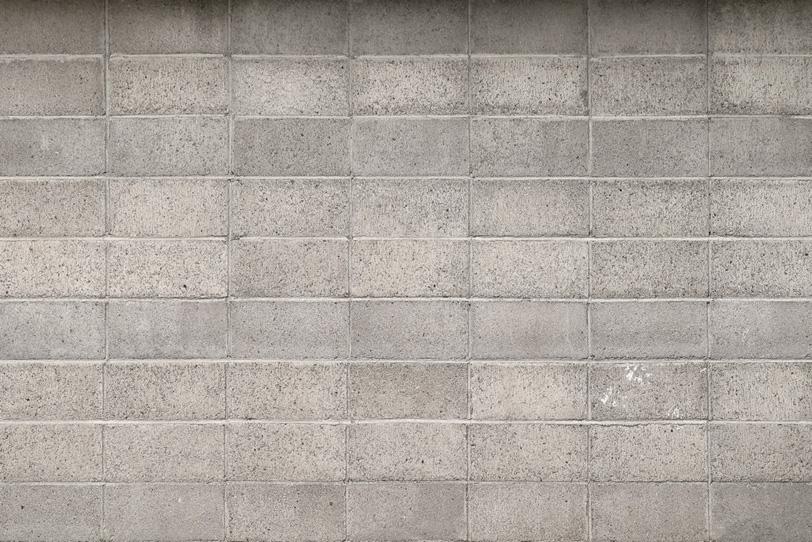 ブロック塀の背景素材の写真画像