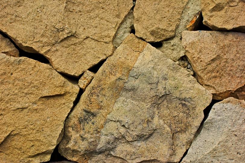 大きな岩の石壁の写真画像