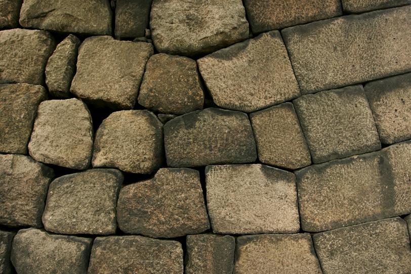 茶色い石壁の写真画像