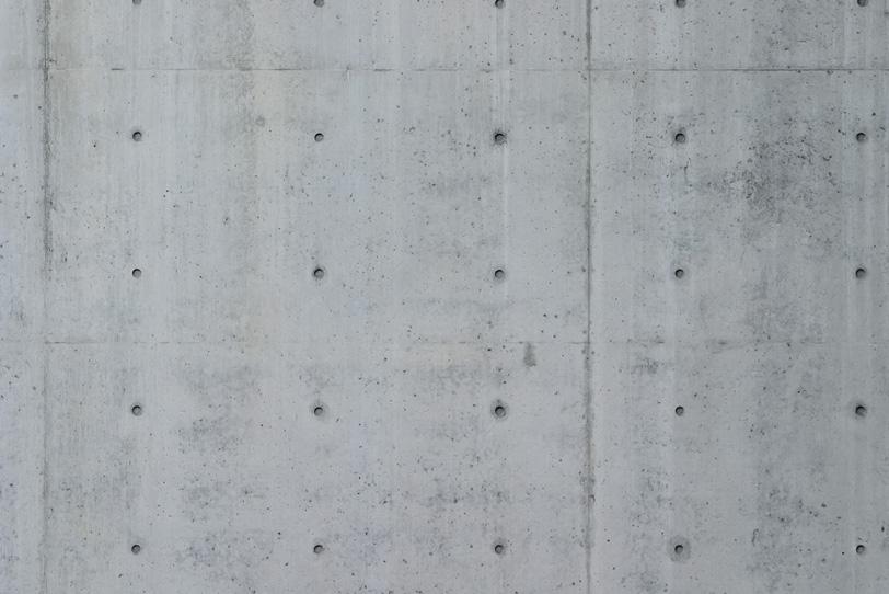 トンネルのコンクリート壁の写真画像