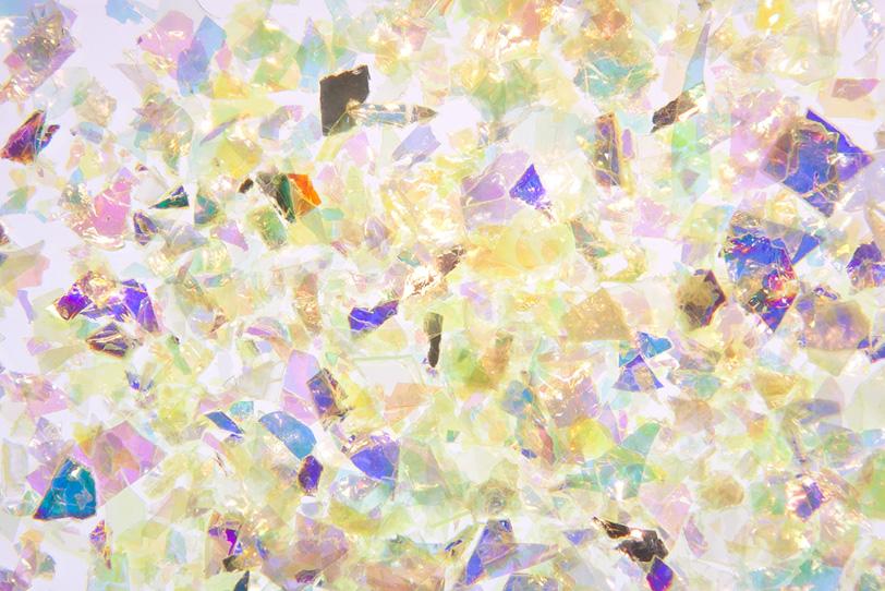 華やかな光彩の硝子フィルムの写真画像