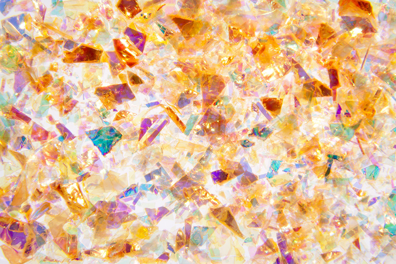 沢山の色が混ざったフィルムの写真画像